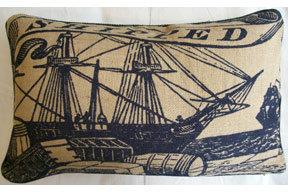 Thomas Paul Shipped Jute Pillow