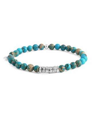Tateossian Men's Semiprecious Beaded Disc Bracelet, Turquoise, Large