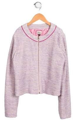 Armani Junior Girls' Tweed Metallic-Accented Jacket