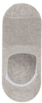 Pantherella Footlet Cotton Blend Socks - Mens - Grey