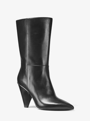 MICHAEL Michael Kors Lizzy Leather Mid-Calf Boot