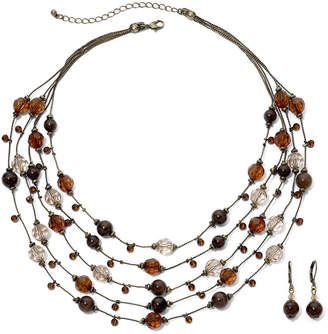MIXIT Bead & Crystal Necklace & Earring Set