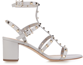 VALENTINO Rockstud leather sandals $1,045 thestylecure.com