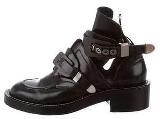 Balenciaga Leather Buckle Boots