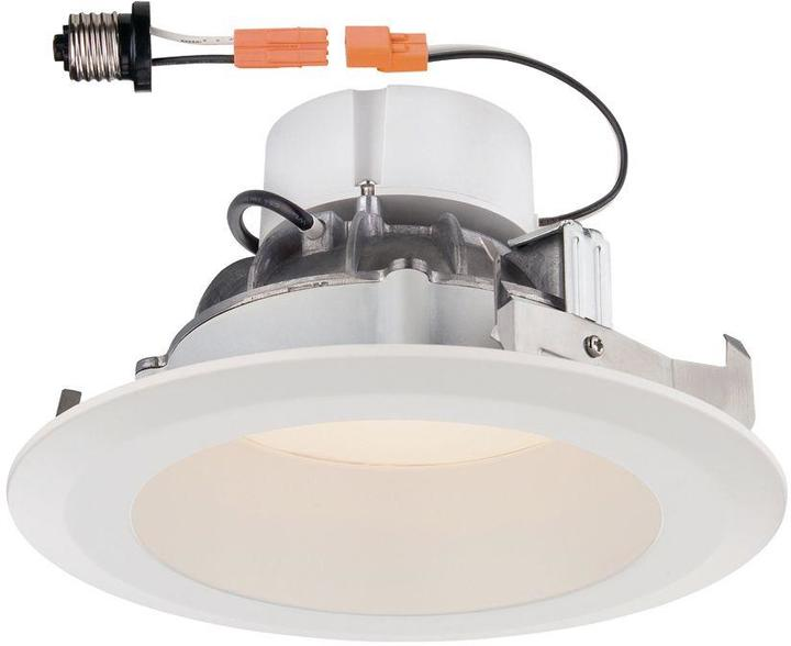 EnviroLite Deep Splay 6 in. White Trim Warm Light 90 CRI LED Recessed Ceiling Light 2700K