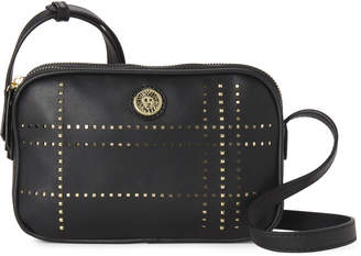 Anne Klein Perforated Plaid Faux Leather Crossbody