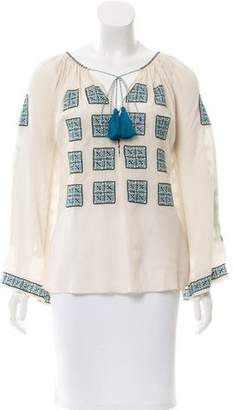 Talitha Embroidered Long Sleeve Top w/ Tags