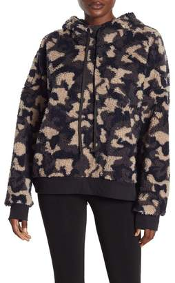 Zella Z By Printed Fleece Hooded Pullover