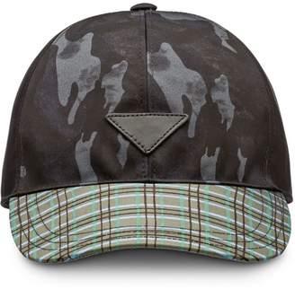 Prada printed baseball cap