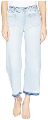 Hudson Holly High-Rise Wide Leg Crop w/ Released Hem in Frame of Mind Women's Jeans