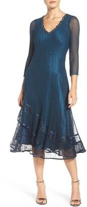 Petite Women's Komarov Embellished A-Line Dress $368 thestylecure.com