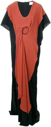 Chalayan layered ring maxi dress