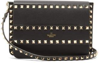 Valentino Rockstud Leather Cross Body Bag - Womens - Black