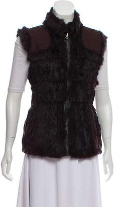 Linda Richards Reversible Fur-Trimmed Vest