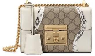 Gucci Padlock snakeskin small shoulder bag