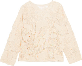 See by Chloé - Crocheted Cotton Sweater - Cream $350 thestylecure.com