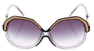 Linda Farrow Luxe Oversize Gradient Sunglasses