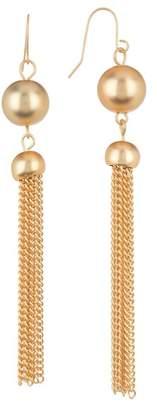 Halogen Double Drop Tassel Earrings