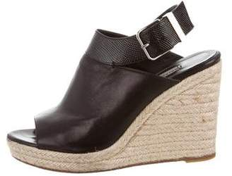 Balenciaga Ankle Strap Espadrille Wedges