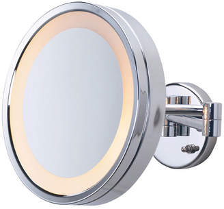 """The Jerdon HL7CF 9.75"""" Lighted Wall Mount Makeup Mirror Bedding"""