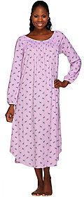 """Carole HochmanCarole Hochman Jersey Rosebud 50"""" Long Sleeve Gown"""