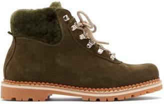 Montelliana - Sequoia Suede Boots - Womens - Khaki