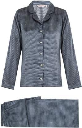 Derek Rose Brindisi 13 geometric-print silk-satin pyjama set