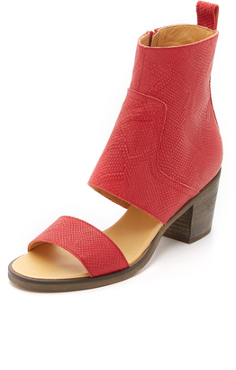 MM6 Open Toe Booties $625 thestylecure.com