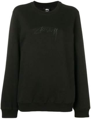 Stussy oversized embroidered logo sweatshirt