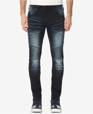 Buffalo David Bitton Men's Max-x Skinny-Fit Stretch Moto Jeans