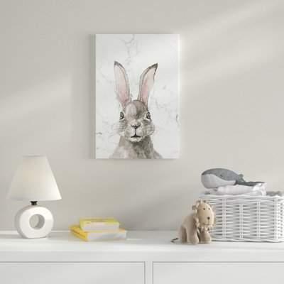 Wayfair 'Thinking Rabbit' Print on Wrapped Canvas