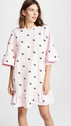 McQ Alexander McQueen Loose Ruffle Tee Dress