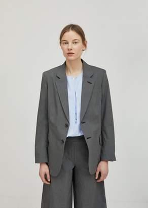 Hache Linen Check Blazer Grey