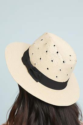 Anthropologie Verena Polka Dot Fedora