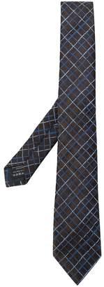 Ermenegildo Zegna check embroidery tie