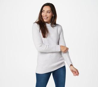 Denim & Co. Shawl Collar Long-Sleeve Tunic Sweater