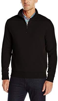 Bugatchi Men's Mesh up Long Sleeve 1/2 Zip Pullover