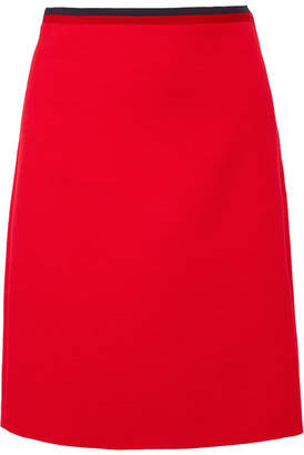 Gucci Silk And Wool-blend Mini Skirt - Red
