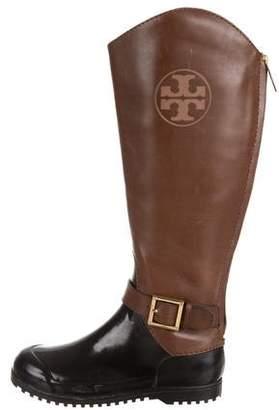 Tory Burch Logo Rain Boots