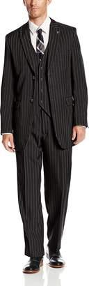 Stacy Adams Men's Big-Tall Mars Vested 3 Piece Suit