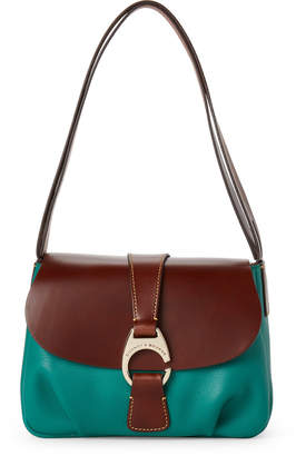 Dooney & Bourke Grass Derby Large Flap Shoulder Bag