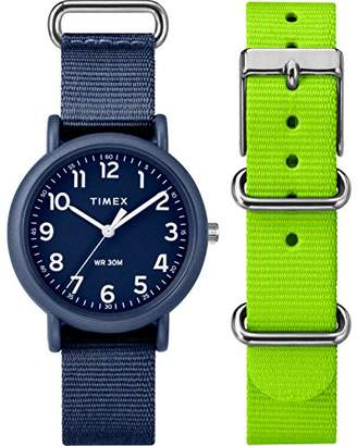 Timex Weekender Colour Rush Blue Dial with a Blue Nylon Strap Watch TWG018400
