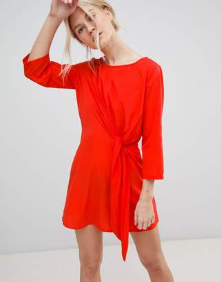 Vero Moda Tie Front Shift Dress