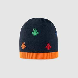 Gucci Children's bees and stars wool knit hat