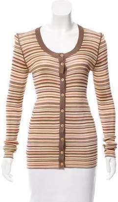 Dolce & Gabbana Striped Knit Cardigan w/ Tags
