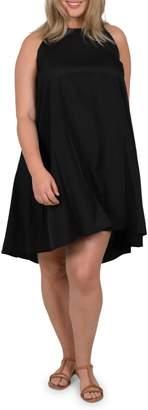 Gabrielle Plus Bow Back Sleeveless Trapeze Dress