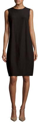 Eileen Fisher Washable Crepe Sleeveless Lantern Dress $238 thestylecure.com