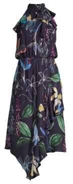 Parker Julieta Stretch Silk Midi Dress