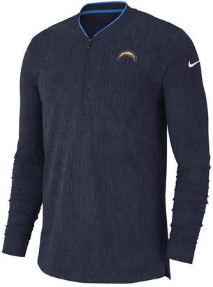 Nike Men's Los Angeles Chargers Coaches Quarter-Zip Pullover
