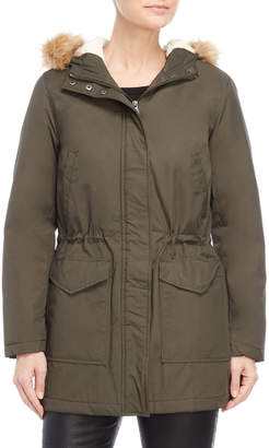 Levi's Faux Fur-Trimmed Hooded Coat